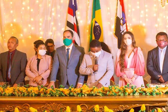 Prefeito, vice e vereadores tomaram posse neste dia 1° de janeiro em Turilândia
