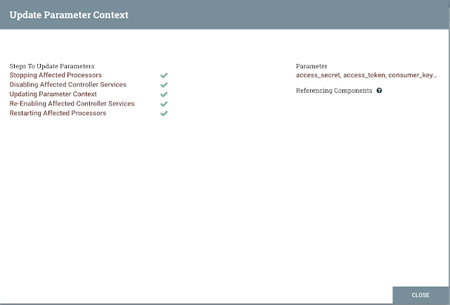 Applying parameter context