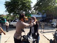 "Kapolsek Sungai Pinang Pimpin Yustisi, ""Meski Kasus Covid-19 Menurun, Tetap Harus Waspada"""