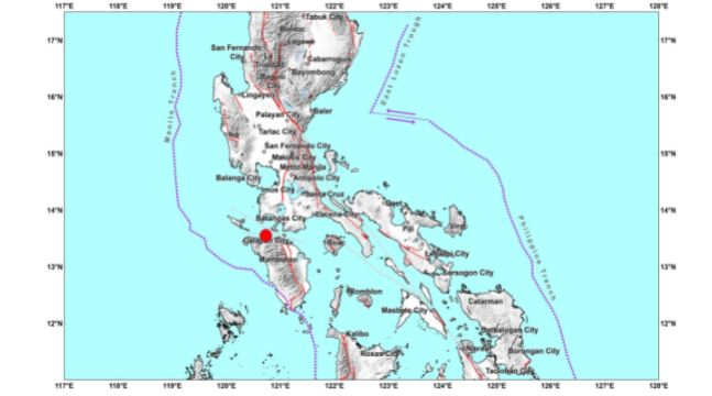 Magnitude 5.8 earthquake hits Occidental Mindoro