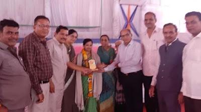 तीन दिवसीय एक्यूप्रेशर शिविर के समापन पर डाॅ. ममता जैन का आसरा पारमार्थिक ट्रस्ट ने किया सम्मान   tin divshiy ekyuprashar shivir ke smapan per