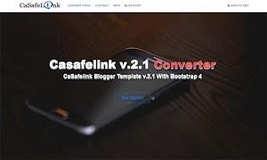 Premium Safelink Blogger Template - Casafelink v.2.1
