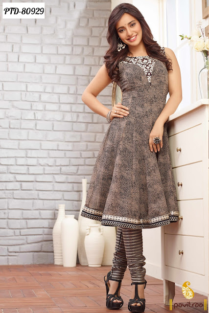 Bollywood Model Celebrity Neha Sharma anarkali salwar kameez dresses online with free shipping in India