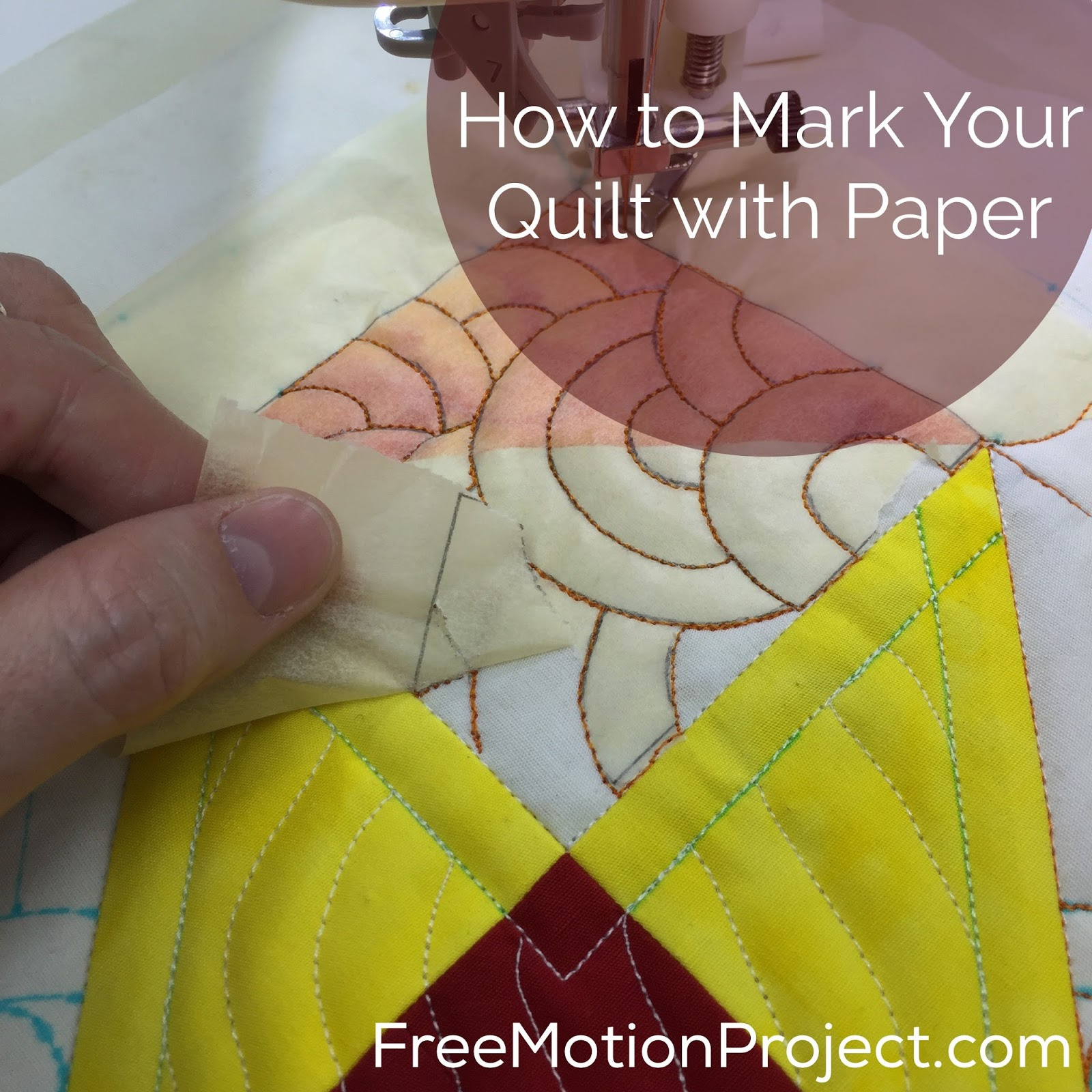 The Free Motion Quilting Project: Quilt Marking with Paper : quilting with paper - Adamdwight.com