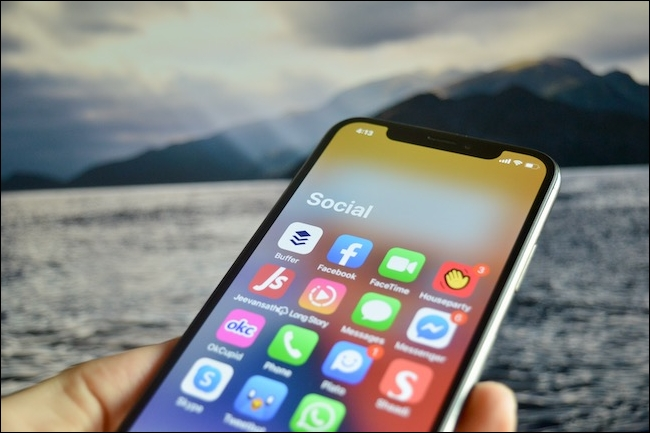 يتم فتح مجلد مكتبة التطبيقات في iOS 14.