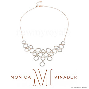 Kate Middleton jewels Monica Vinader Riva Diamond Cluster Bib Necklace