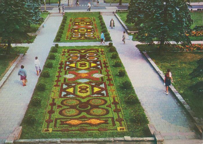 Ciechocinek - dywan z kwiatów