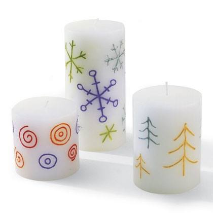 Hand-Colored Candles