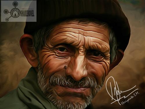 Smudge caricature photo effect | photoshop tutorial cs6/cc.