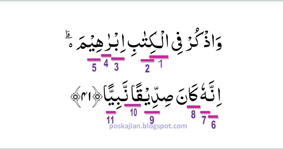 Hukum Tajwid Al Quran Surat Maryam Ayat 41 Lengkap Beserta