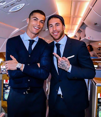 Sergio #Ramos : I don't want to disrespect anyone but, #Cristiano #Ronaldo is the best player in #Real #Madrid #History. ❤️ #CR7