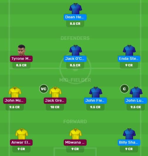 AVL vs SHF Dream11 Team for Today's Match