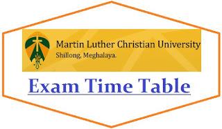 Martin Luther Christian University Exam Date Sheet 2021