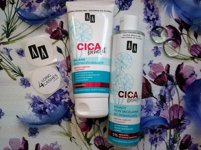 Nowości marki AA - CICA Benefit | Płyn do demakijażu oraz balsam do ciała.