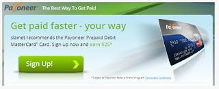 Daftar Payoneer | Kartu Debit Gratis sbg US Payment Service