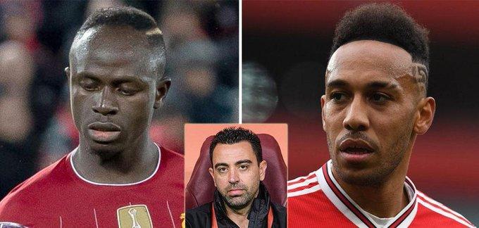 Xavi avertit Barcelone de ne pas signer Aubameyang et Mane car ce sont de mauvais transferts pour l'équipe