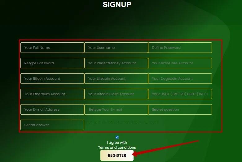 Регистрация в Alpha Bit 2
