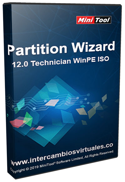 MiniTool Partition Wizard 12.0 Technician WinPE ISO poster box cover