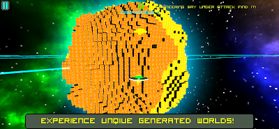 Experience infinite procedural generated planets.