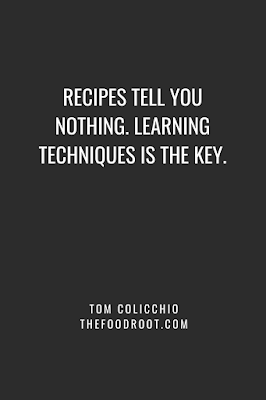 Recipes tell you nothing. Learning techniques is the key.