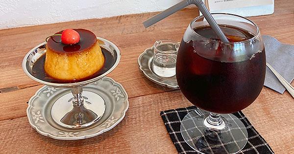 世田谷線沿いの隠れ家カフェ/喫茶mammalのレトロな固めプリン