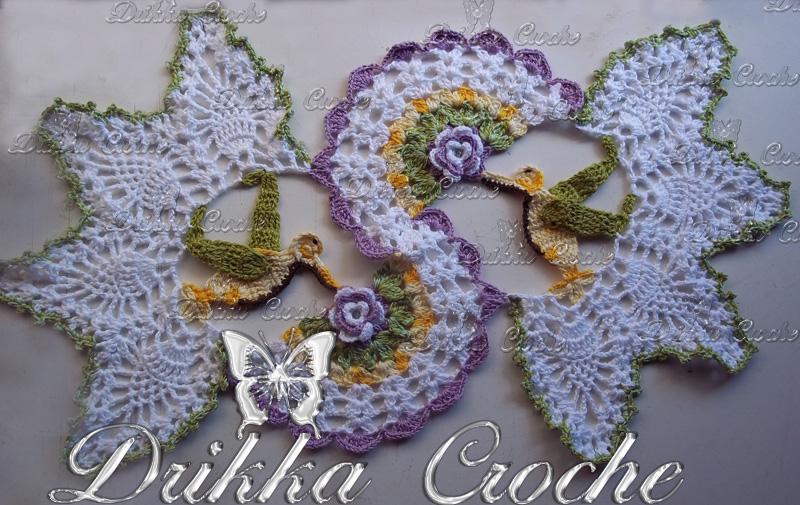2fb28979839e Caminho de mesa beija flor Croche - Decorações e Artes