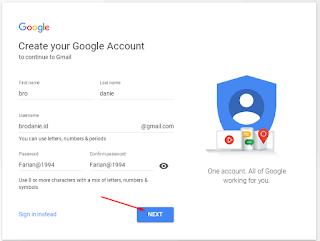 Cara Membuat akun Google terbaru