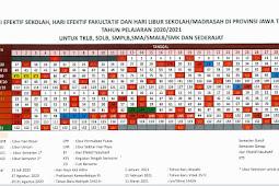 Kalender Pendidikan (Kaldik) 2021/2022 Provinsi Jawa Timur (Jatim) (PDF)
