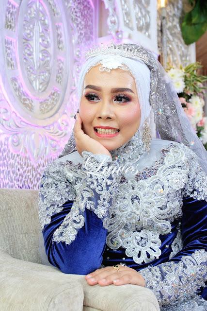 Rias Pengantin hijab jilbab dengan kebaya nasional