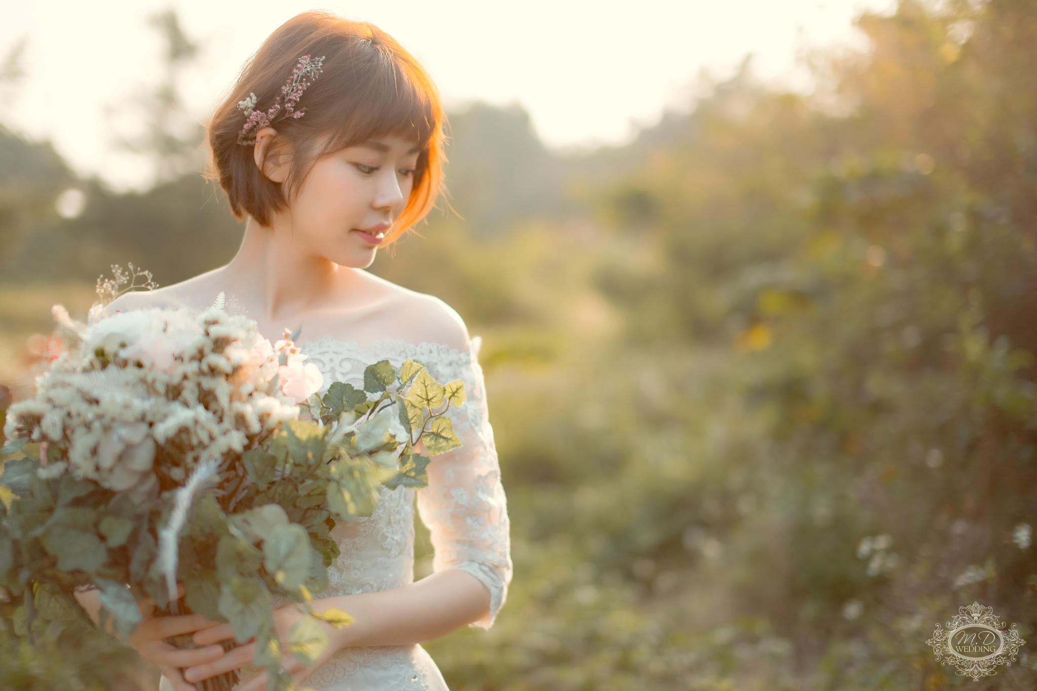 輕婚紗方案 國內婚紗 浪漫風格 海邊夕陽婚紗 陽明山 逆光婚紗 台北婚紗推薦