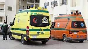 إصابة عامل في حادث تصادم بين سياره ربع نقل ودراجة بخارية بسوهاج