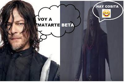 The Walking Dead 9x13 Daryl y Beta