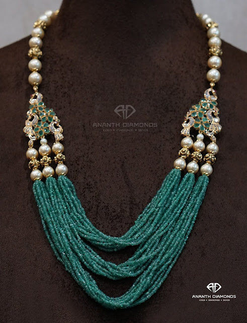 Small Green Beads Pearls Set