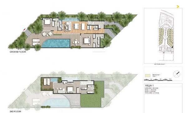 bản vẽ thiết kế căn biệt thự trong dự án IXORA Hồ  Tràm