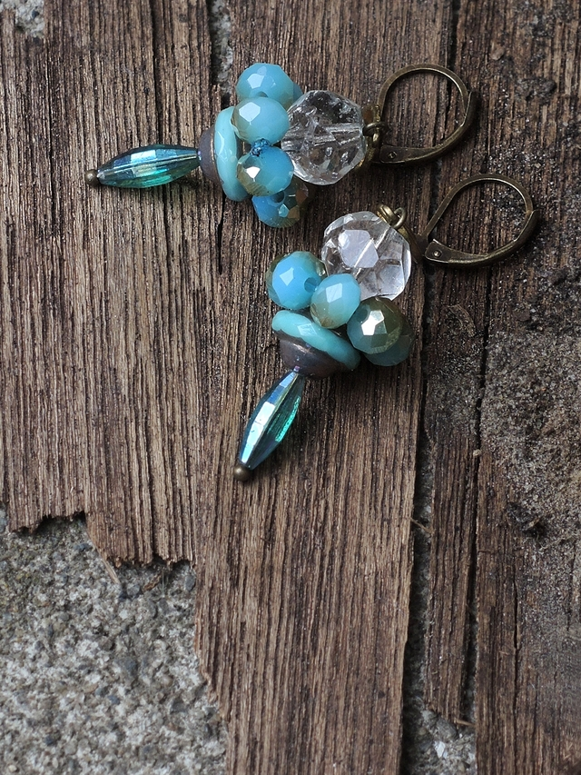 "DIY oorbellen/earrings ""mosquito"""