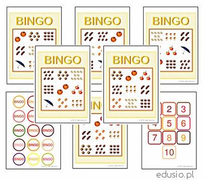 bingo matematyczne dla dzieci