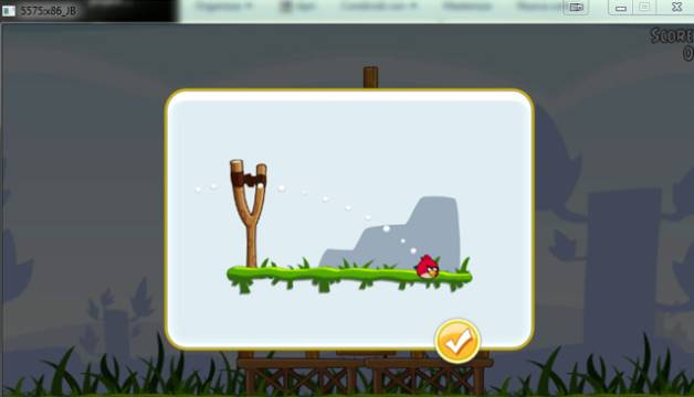 Mainkan game Angry Birds (versi Android) di komputer yang lancar dengan Jar of Beans
