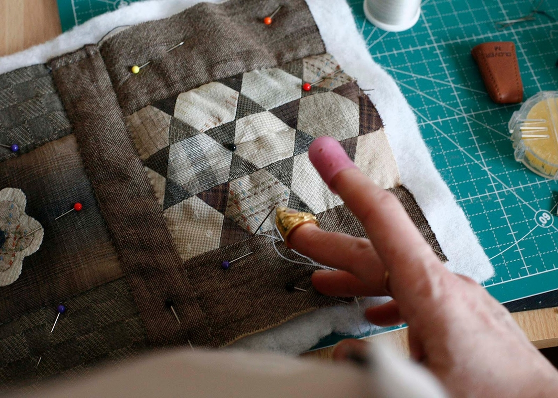 How to sew a cosmetics bag in the technique Japanese Patchwork. DIY tutorial with pictures. Косметичка Японский Пэчворк
