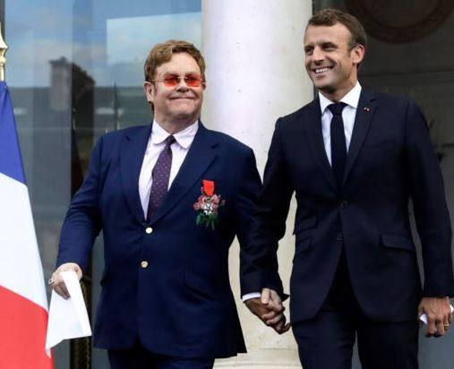 French President, Emmanuel Macron awards Elton John with the country's highest civilian award 'Legion d'Honneur'
