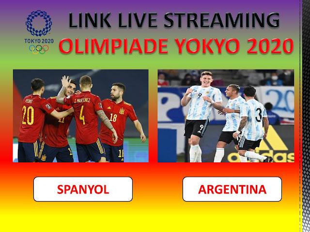 Link Live Streaming Super Big Match Spanyol VS Argentina di Olimpiade Tokyo 2020