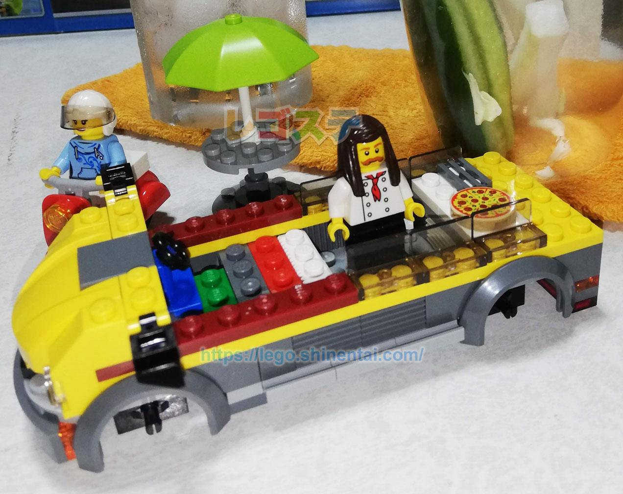 LEGOレビュー:60150 ピザショップトラック:シティ