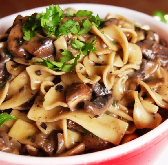 Mushroom Stroganoff  [Vegan] #veggies #comfortfood