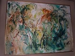 "Pelukis: Affandi Tahun: 1987 Judul : "" Pohon Aren "" Ukuran : 90cm X 120cm Media : Oil on Canvas"