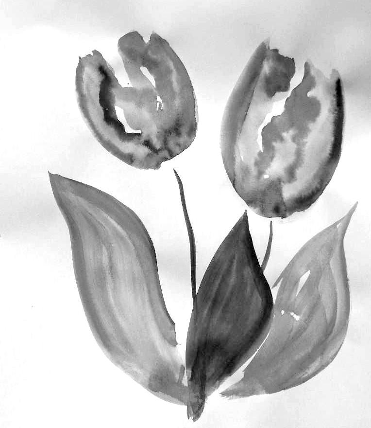 malkurs jugendzentrum untermeitingen pflanzen malanleitung tulpe. Black Bedroom Furniture Sets. Home Design Ideas