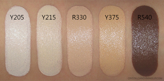 Make Up For Ever Ultra HD Stick Foundation Y205 Y215 R330 Y375 R540 Swatches