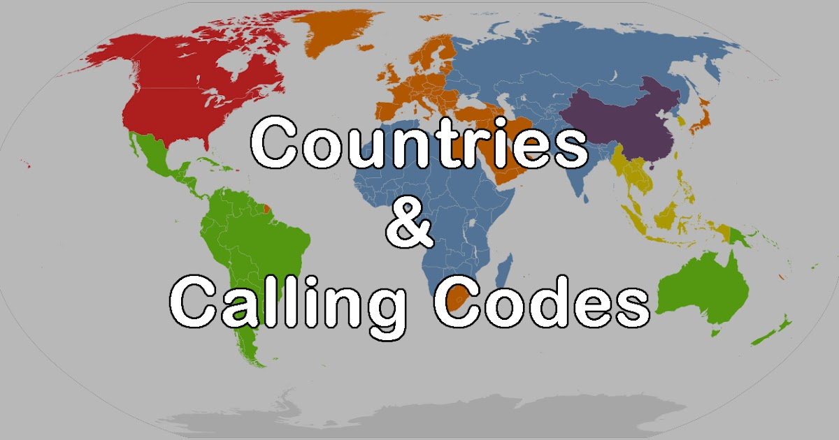 All Countries and Their Calling Codes with Whatsapp Messaging | Know