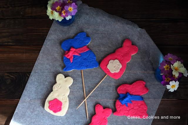 Hasencookie mit Fondant - Kekse für Ostern