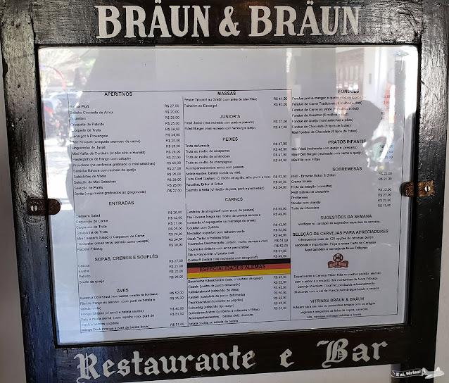 Braun & Braun - Cardápio 2019