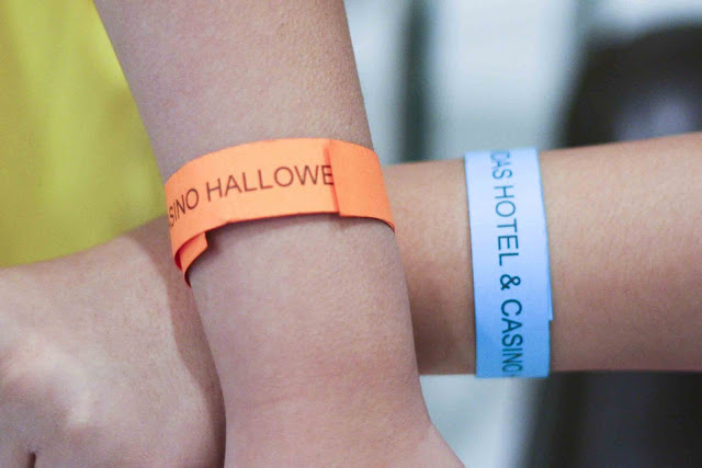 Midas Hotel Halloween event colored bands