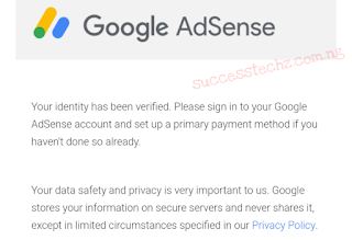 Ads not showing - How to fixed Google Adsense  identity verification failed
